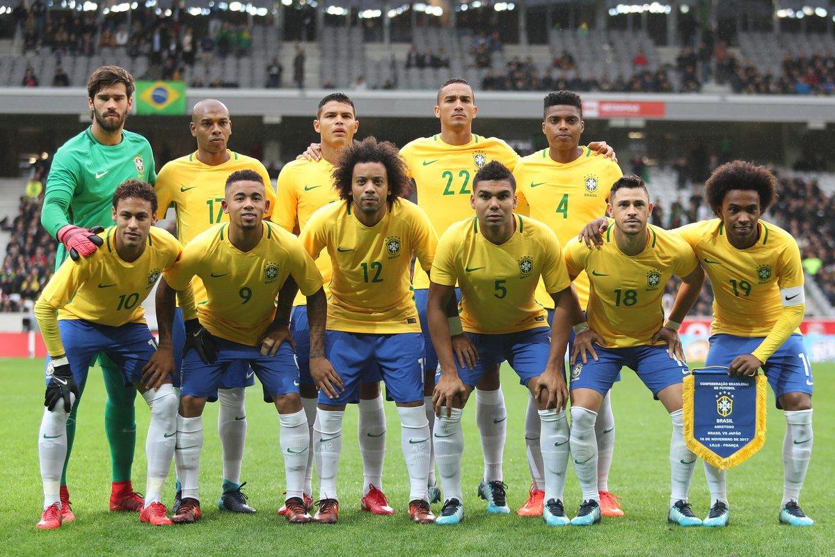 Las selecciones de fútbol de Brasil y Serbia a0215fe4317d9